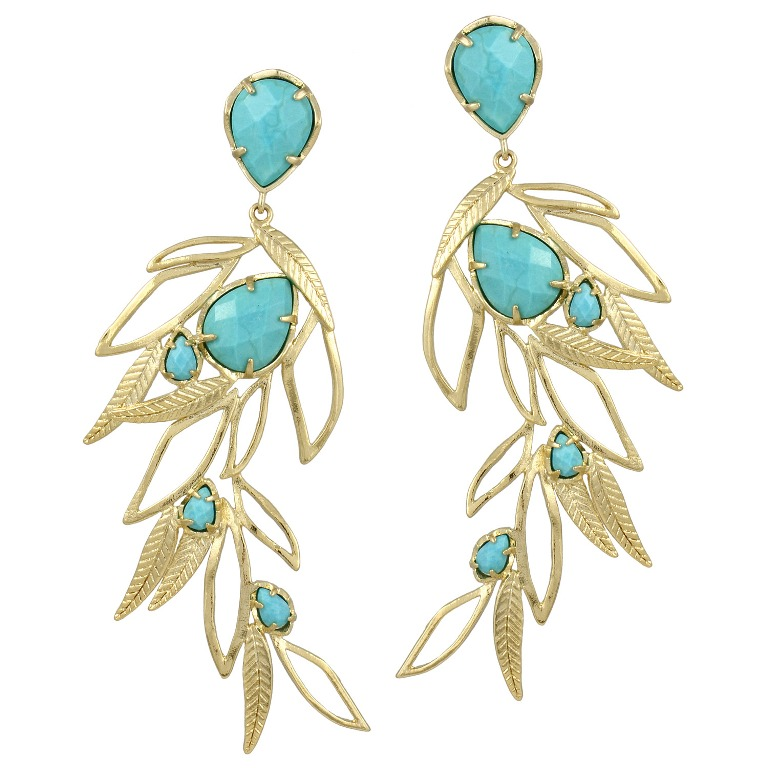 "Kendra-Scott_KSS3E8000GTRQM Turquoise jewelry "" The Stone of the Sky & Earth"""
