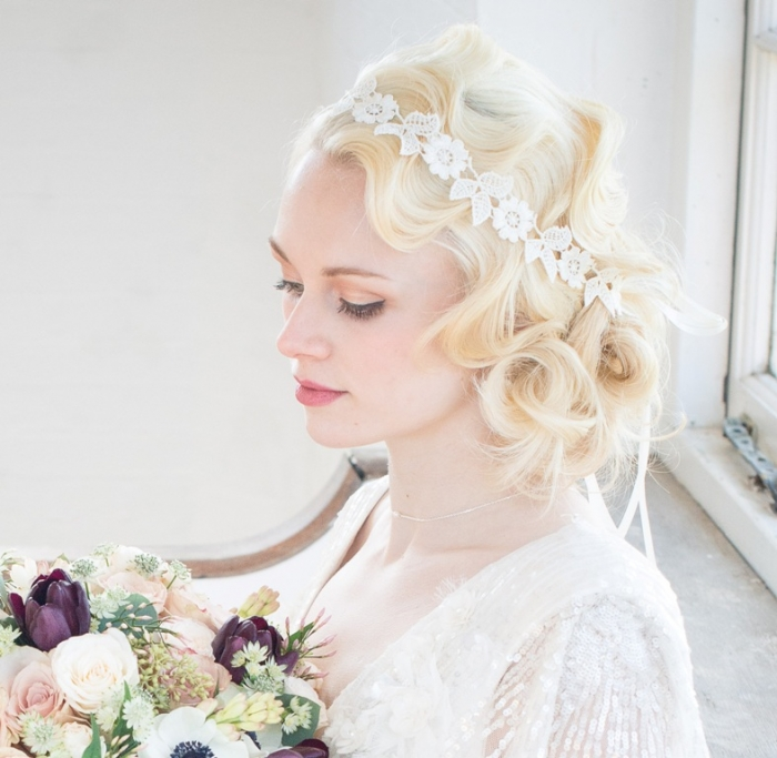 "Lacey-Headband-£35-Chez-Bec-2 ""Wedding Headbands"" The Best Choice for Brides, Why?!"