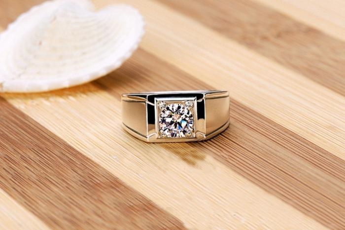 Luxury-supply-925-silver-1-carat-sona-Simulated-Diamond-Engagement-Rings-for-men-mens-diamond-wedding Men's Diamond Rings for More Luxury & Elegance