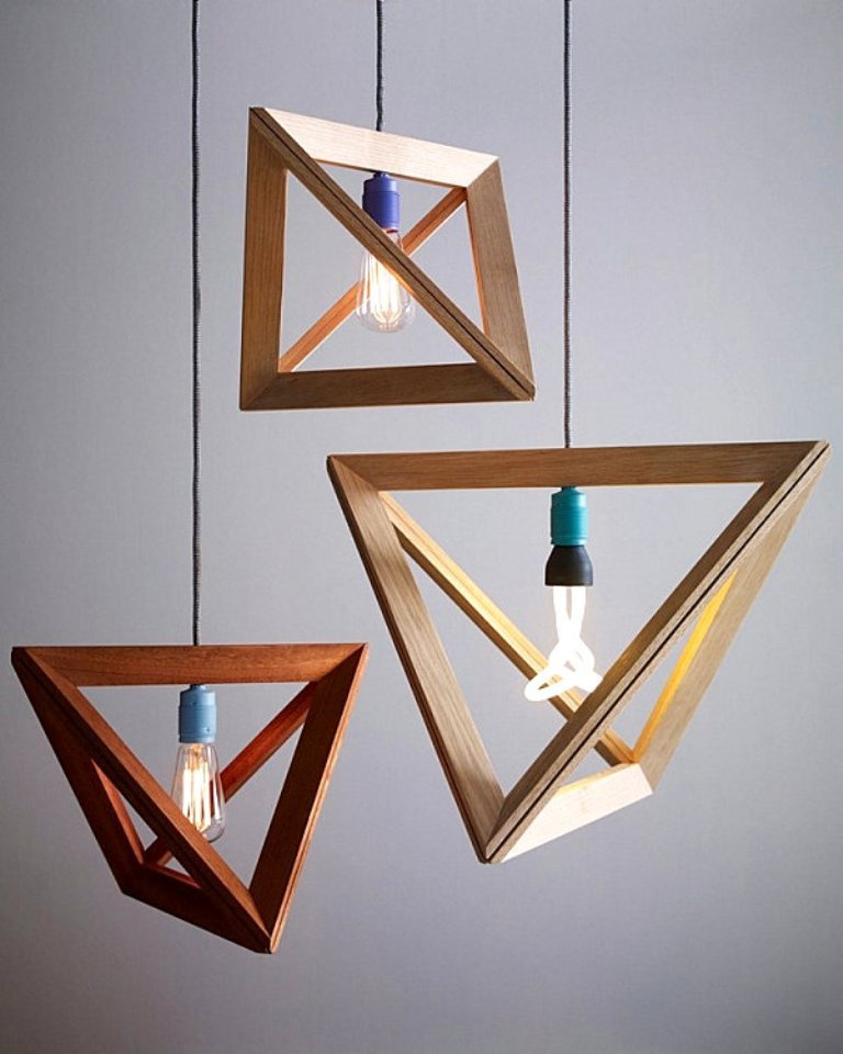 Modern-Geometric-Wooden-Pendant-Light-Design-for-Charming-Interior Forecasting--> 25+ Hottest Trends in Home Decoration 2019