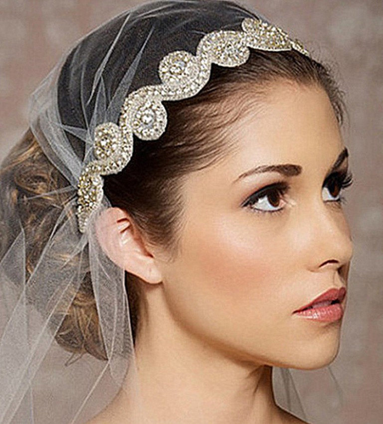 "New-2014-Crystal-Bridal-Headband-Rhinestone-Headpiece-Head-Chain-Hair-Jewelry-Wedding-Hair-Accessories-Bridal-Headwear ""Wedding Headbands"" The Best Choice for Brides, Why?!"