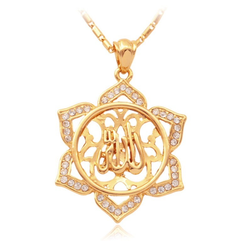 New-Islamic-Allah-Big-Pendant-Charms-18K-Real-Gold-Plated-Rhinestone-Choker-Necklace-font-b-Religious Exclusive 6 Facts about Religious Jewelry?