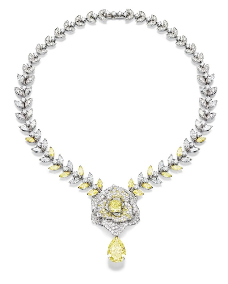 Piaget-Rose-Passion-Yellow-Diamond-Necklace The Rarest Yellow Diamonds & Their Breathtaking Beauty