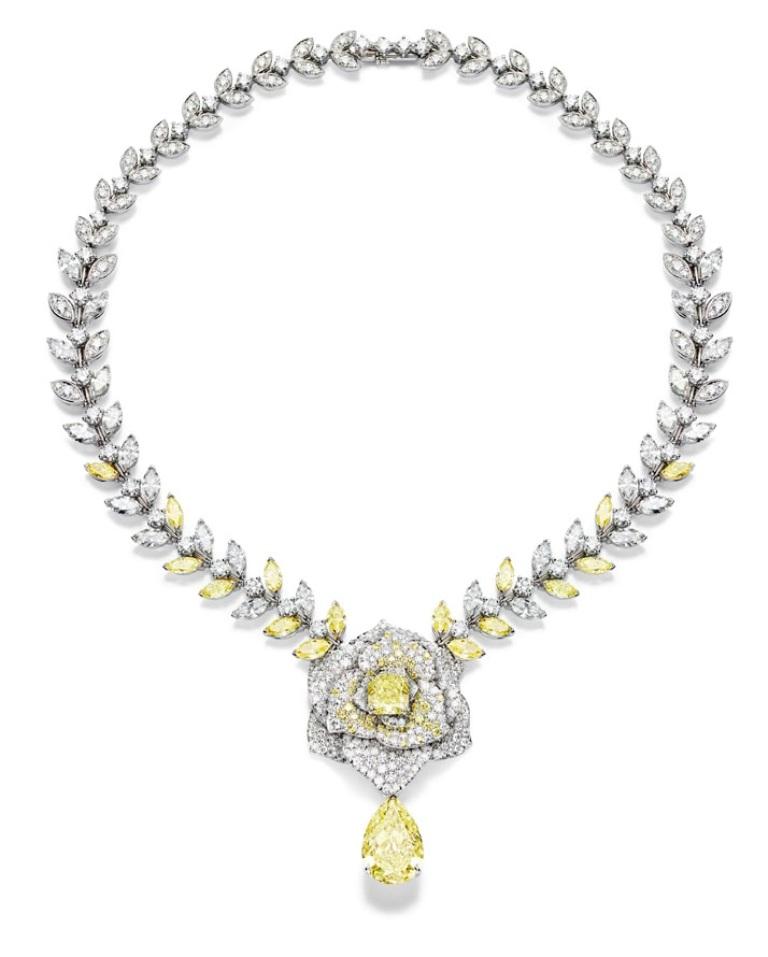 Piaget-Rose-Passion-Yellow-Diamond-Necklace The Rarest Yellow Diamonds & Their Breathtaking Beauty