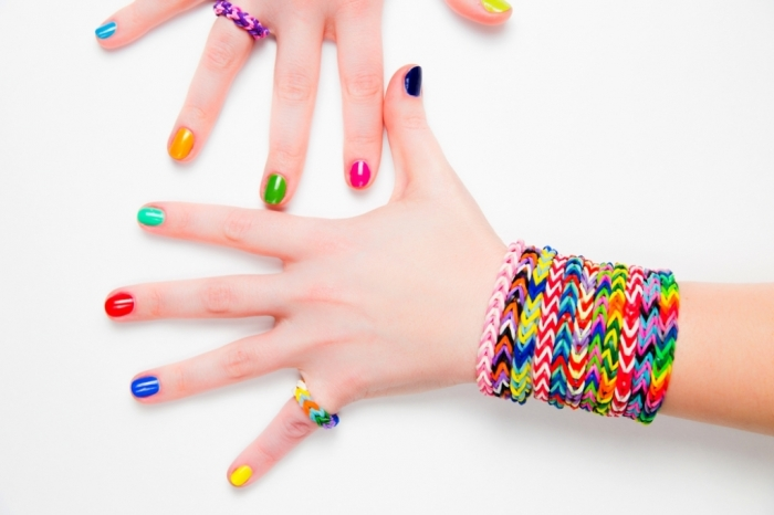 Rainbow-bracelet 25 Mysterious Rainbow Jewelry Designs