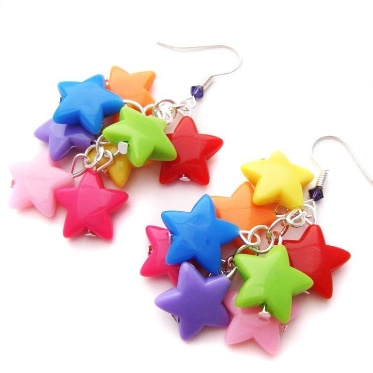Rainbow_Star_Earrings_by_fairy_cakes 25 Mysterious Rainbow Jewelry Designs