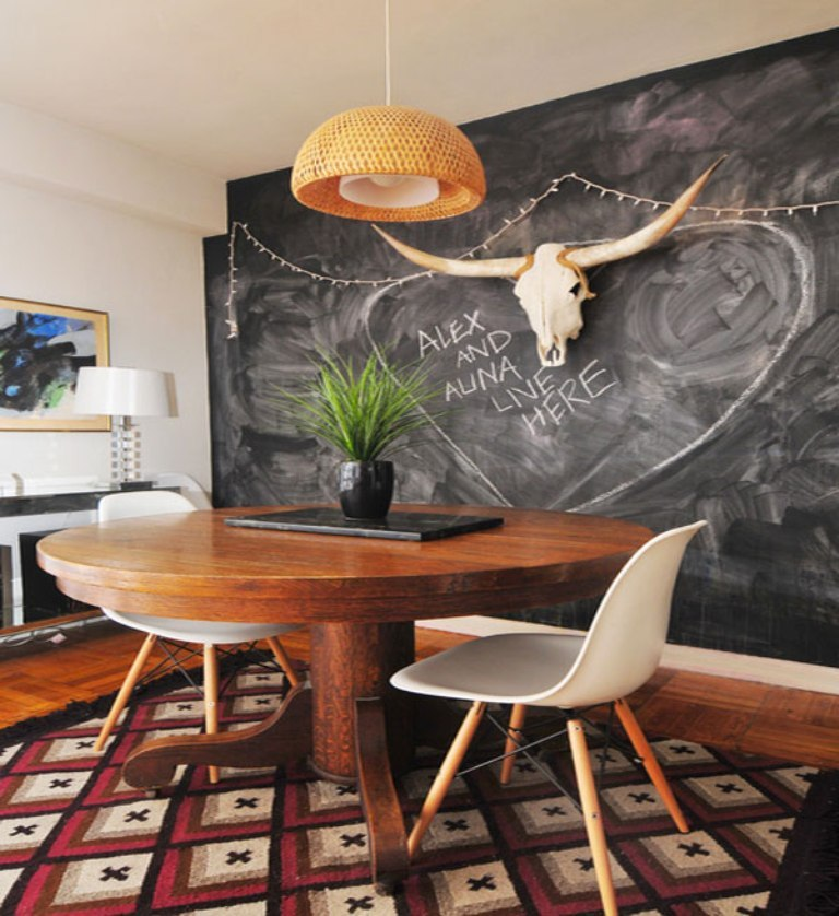 Remarkable-Dining-Room-Design-by-Nicole-Crowder-Photography-including-Vase-of-Flower-on-Rounded-Shaped-Wood-Table-and-White-Chairs Forecasting--> 25+ Hottest Trends in Home Decoration 2019