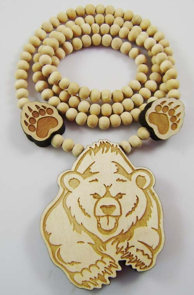 Running-Bear-Necklace-Pendant-GOOD-WOOD-Beads-Wooden-Necklaces-Hip-Hop-Fashion-Jewelry-Good-Gift-MT152 Create Fascinating & Dazzling Jewelry Pieces Using Wooden Beads