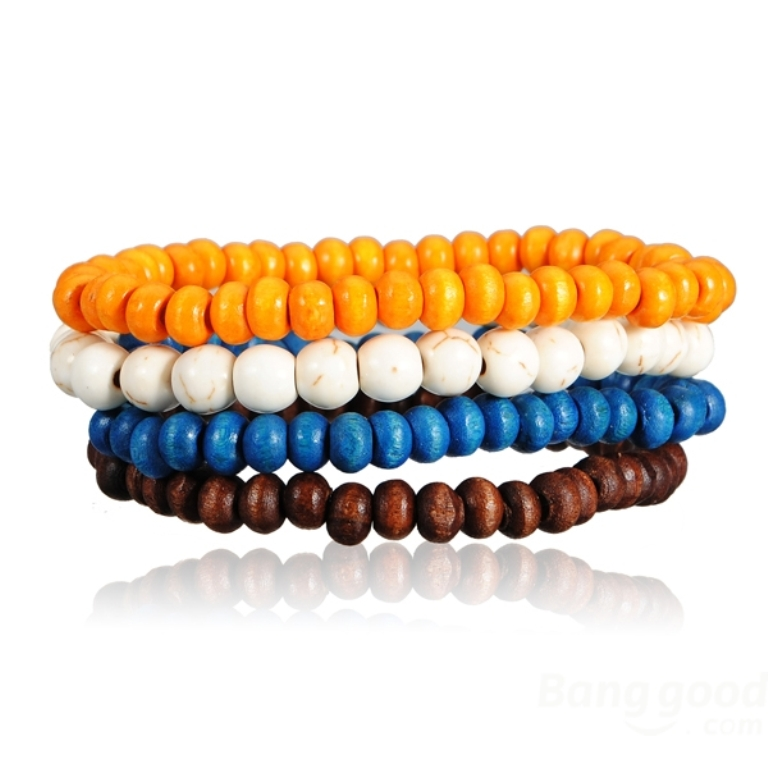 SKU097378-1 Create Fascinating & Dazzling Jewelry Pieces Using Wooden Beads