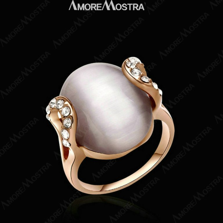 SUMPTUOUS-CAT-S-EYE-font-b-MOONSTONE-b-font-font-b-Ring-b-font-18K-Gold Moonstone Jewelry Offers You Fashionable Look & Healing properties