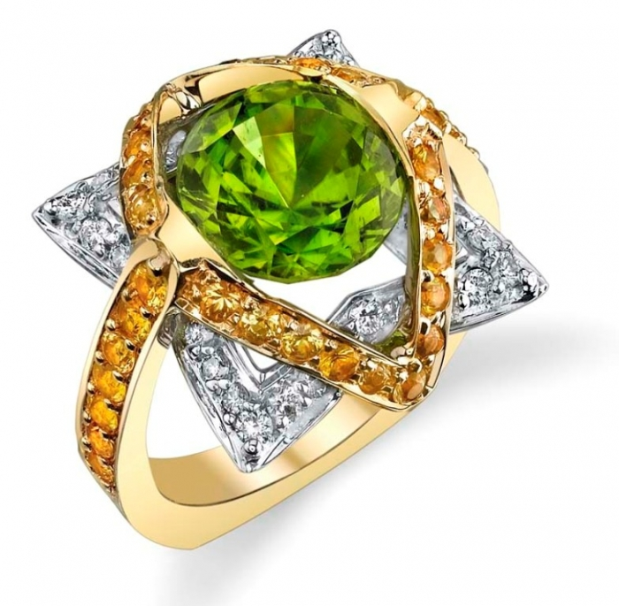 Star-Peridot-Ring1 Most Exclusive Peridot Jewelry that Shines Even at Night