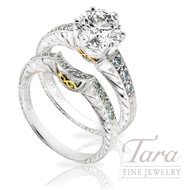 "Tacori-Diamond-Wedding-Set-.30-TDW-in-Atlanta Top 10 Facts of Tacori Jewelry ""The Jewel of Rich, Famous & Stars"""