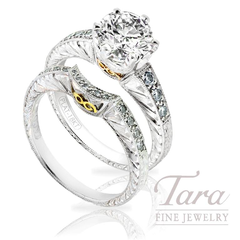 "Tacori-Diamond-Wedding-Set-.30-TDW-in-Atlanta Top 10 Facts of Tacori Jewelry ""The Jewel of Rich, Famous & Stars"""