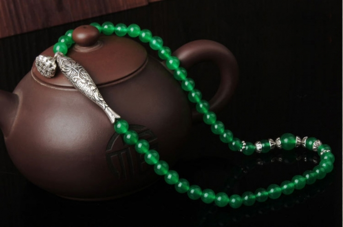 Tibetan-silver-fish-lotus-pendant-green-agate-bracelet-ethnic-fashion-jewelry-for-women-003 Create Unique & Fashionable Jewelry Using Tibetan Silver Beads