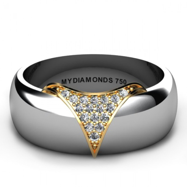 Torino-White-Gold-Men's-Diamond-Wedding-Ring Men's Diamond Rings for More Luxury & Elegance