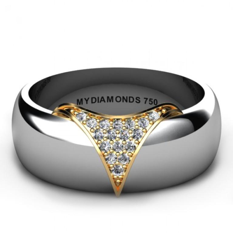 Torino-White-Gold-Men's-Diamond-Wedding-Ring Men's Diamond Rings for More Luxury & Elegance