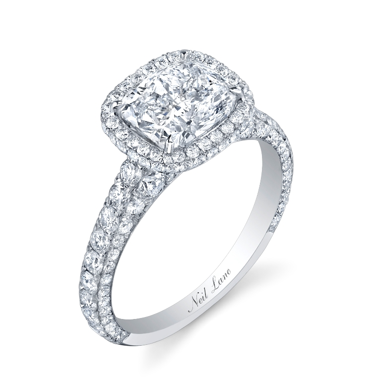 Untitled_00150NL8131 Cushion Cut Engagement Rings for Beautifying Her Finger