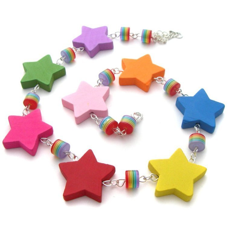 Wooden_Rainbow_Star_Necklace_by_fairy_cakes 25 Mysterious Rainbow Jewelry Designs