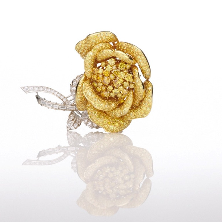 Yellow-Diamond-Rose-Brooch-small-03 The Rarest Yellow Diamonds & Their Breathtaking Beauty