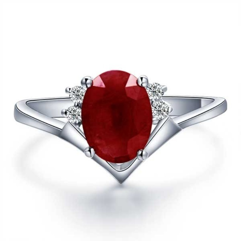 affordable-ruby-and-diamond-engagement-ring-on-18ct-white-gold Top 10 Non-Diamond Engagement Ring Types for a More Unique Proposal