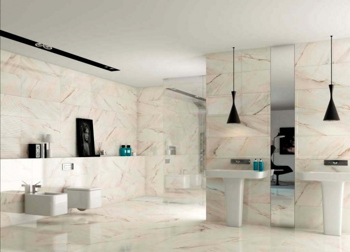 bathroom-remodel-ideas-elegant-luxury-bathroom-design-with-marble-bathroom-appliances- Forecasting--> 25+ Hottest Trends in Home Decoration 2020