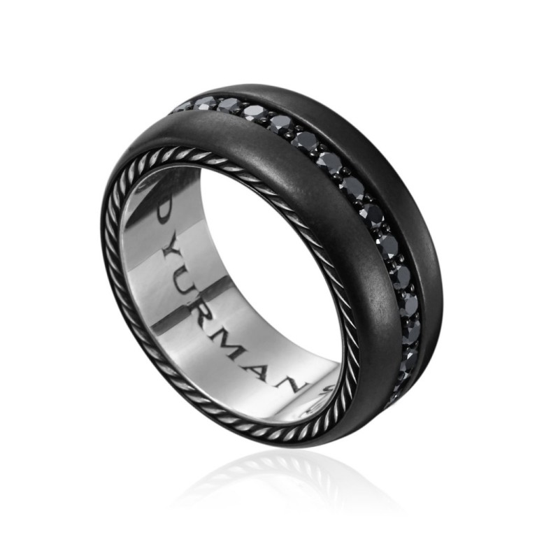 black-wedding-rings-with-diamonds-for-men-3zdhruhf Men's Diamond Rings for More Luxury & Elegance