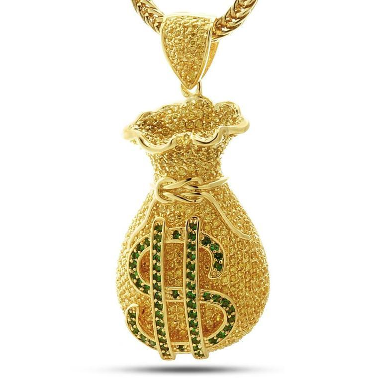 bling-money-signking-ice-gold-cz-custom-money-bag-pendant-hip-hop-jewelry-0bocribf1 Hip Hop Jewelry to Attract More Attention