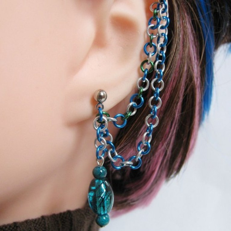 blue_and_silver_cartilage_double_chain_slave_earring_c6d74ab8 Slave Earrings For Catchier Ears & Fashionable Styles ...
