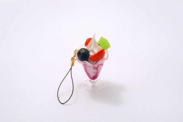 blueberry_parfait_mini_cell_phone_charm_zipper_pull_MED Mobile Phone Charms to Renew Your Mobile Phone
