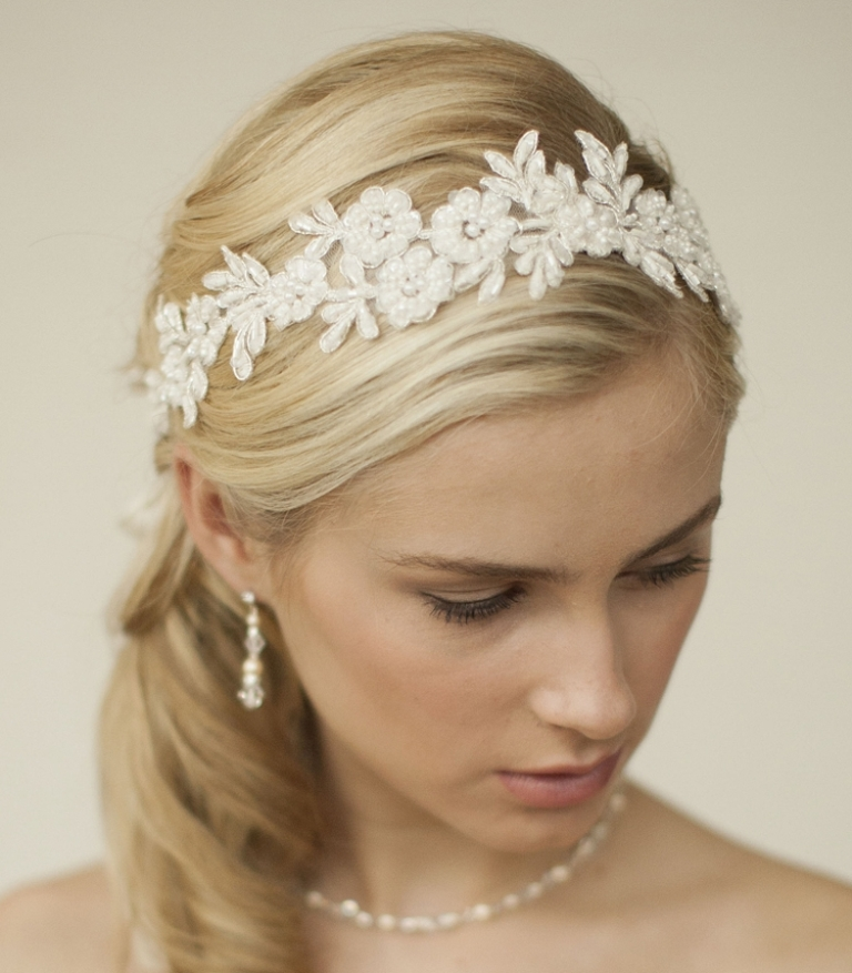 "boho-lace-wedding-headband ""Wedding Headbands"" The Best Choice for Brides, Why?!"