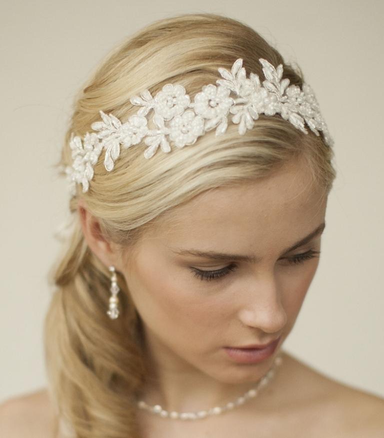 "boho-lace-wedding-headband ""Wedding Headbands"" The Best Choice for Brides, Why?!"