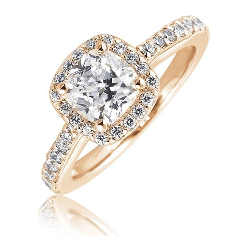 br-cushion-cut-engagement-ring-with-diamond-halo-diamond-studded-band-7507 Cushion Cut Engagement Rings for Beautifying Her Finger
