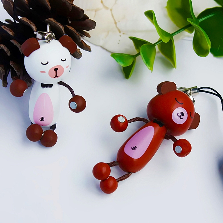 brown-bear-and-white-bear-cell-phone-charm-strap-camera-char Mobile Phone Charms to Renew Your Mobile Phone