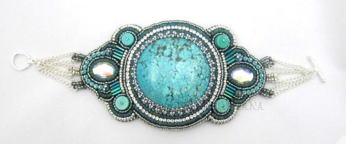 "crystalandturquoisebracelet2 Turquoise jewelry "" The Stone of the Sky & Earth"""