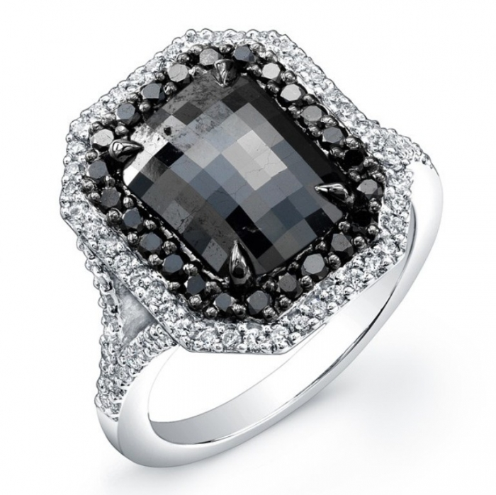 cushion-cut-black-diamond-engagement-ring-rb6esdie Cushion Cut Engagement Rings for Beautifying Her Finger