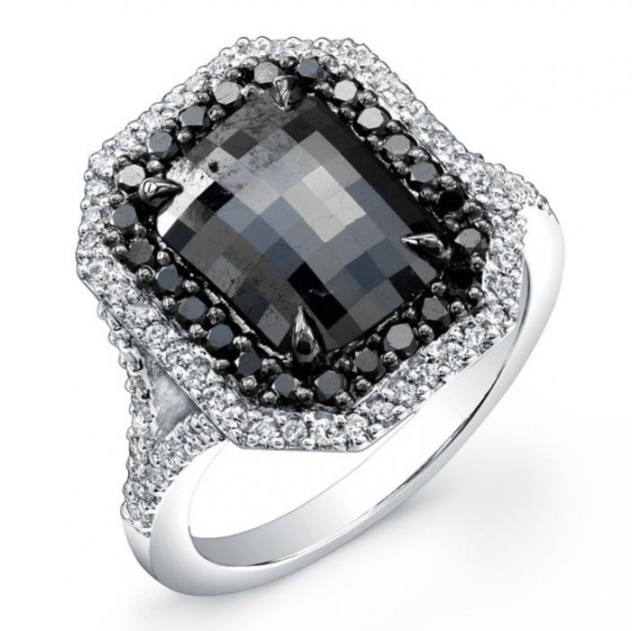 cushion-cut-black-diamond-engagement-ring-rb6esdie Cushion Cut Engagement Rings for Beautifying Her Finger