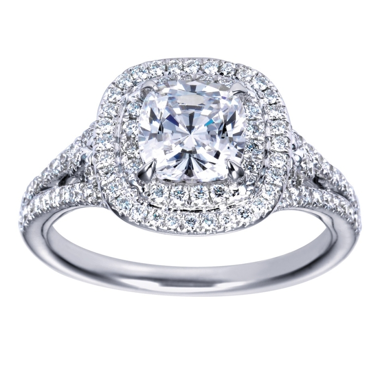 cushion-cut-halo-diamond-engagement-ring-2 Cushion Cut Engagement Rings for Beautifying Her Finger