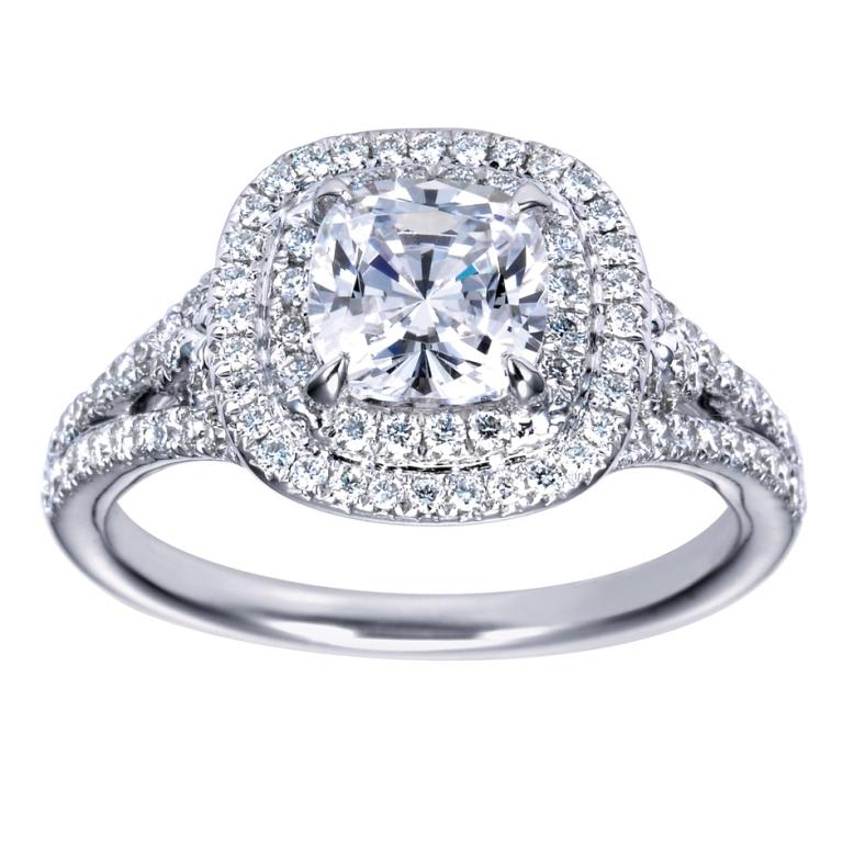 cushion-cut-halo-diamond-engagement-ring-2 Cushion Cut Engagement Rings for Beautifying Her Finger
