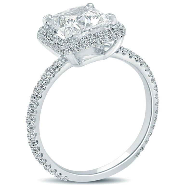 cushion-cut-halo-diamond-engagement-ring-7 Cushion Cut Engagement Rings for Beautifying Her Finger