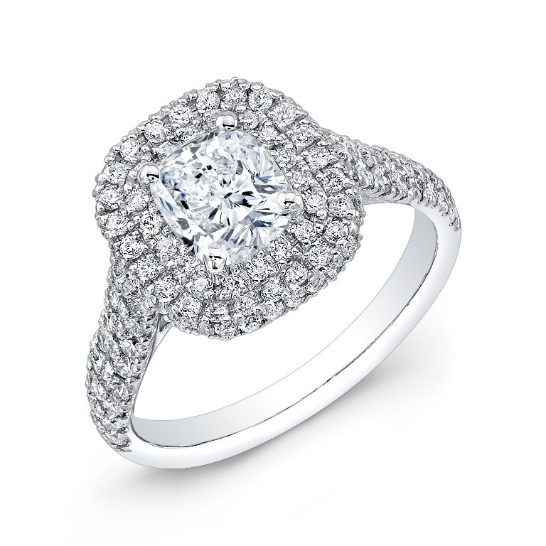 cutcarat_032813_ring_three_qrtr_1_ Cushion Cut Engagement Rings for Beautifying Her Finger