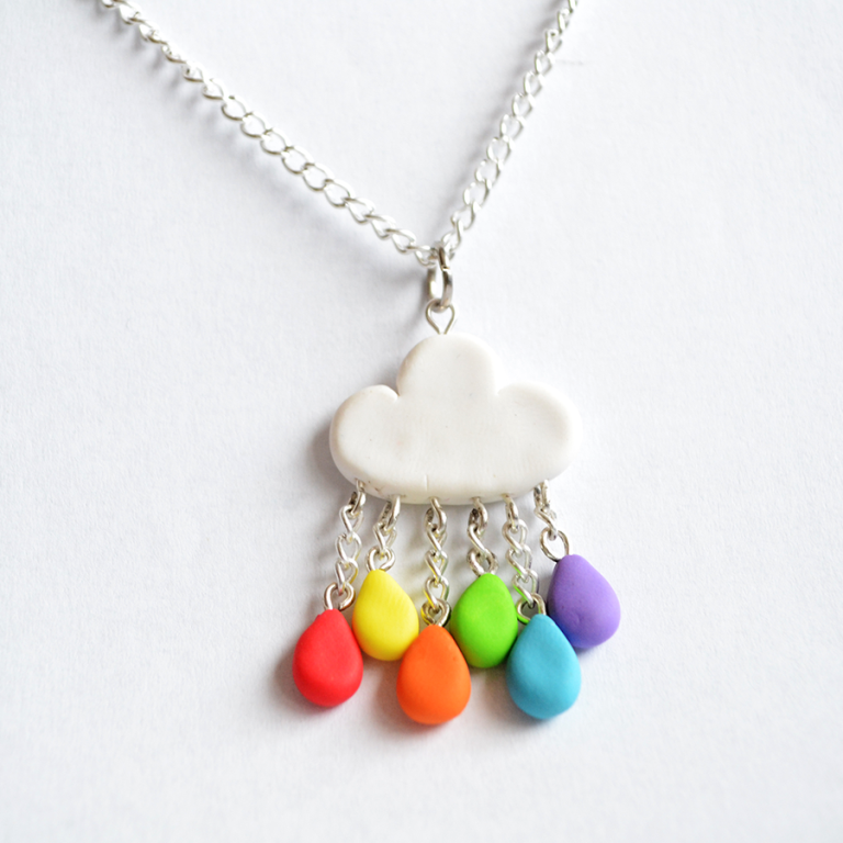 cute_polymer_clay_rainbow_rain_cloud_necklace_by_linnypig-d5rt8zc 25 Mysterious Rainbow Jewelry Designs