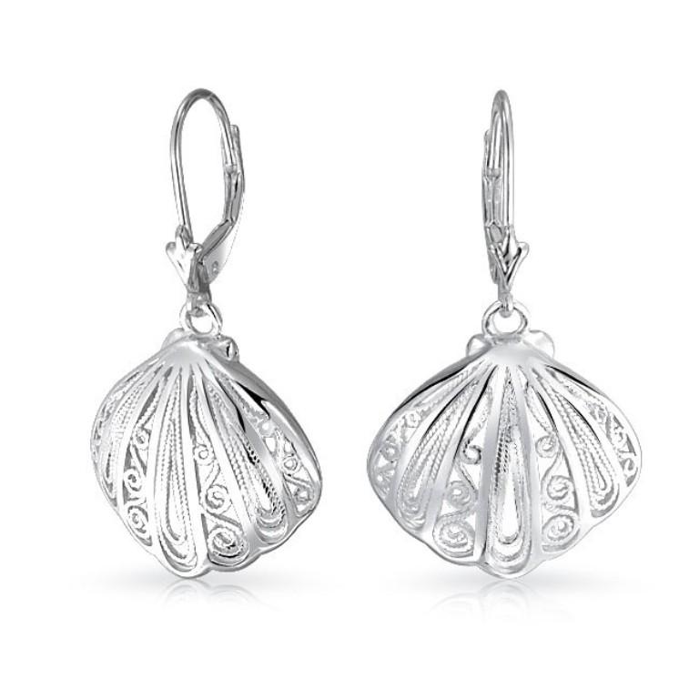 filigree-seashell-dangle-earrings-leverback_pfs-12-2607 Seashell Jewelry as a Natural Gift