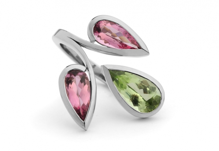 forged-18-carat-white-gold-pink-tourmaline-and-peridot-ring-1024x705 Most Exclusive Peridot Jewelry that Shines Even at Night