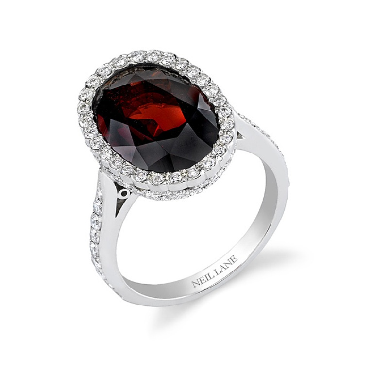 garnet-engagement-rings-Neil-Lane-sean01259-34 The Meanings of Wearing Rings on Each Finger