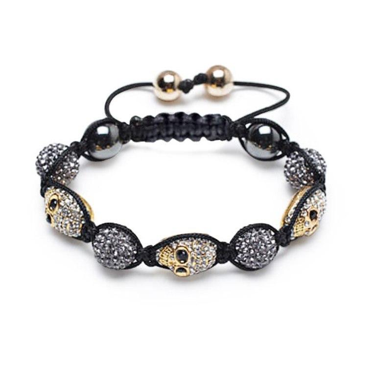 gold-skull-shamballa-bracelet Skull Jewelry for Both Men & Women
