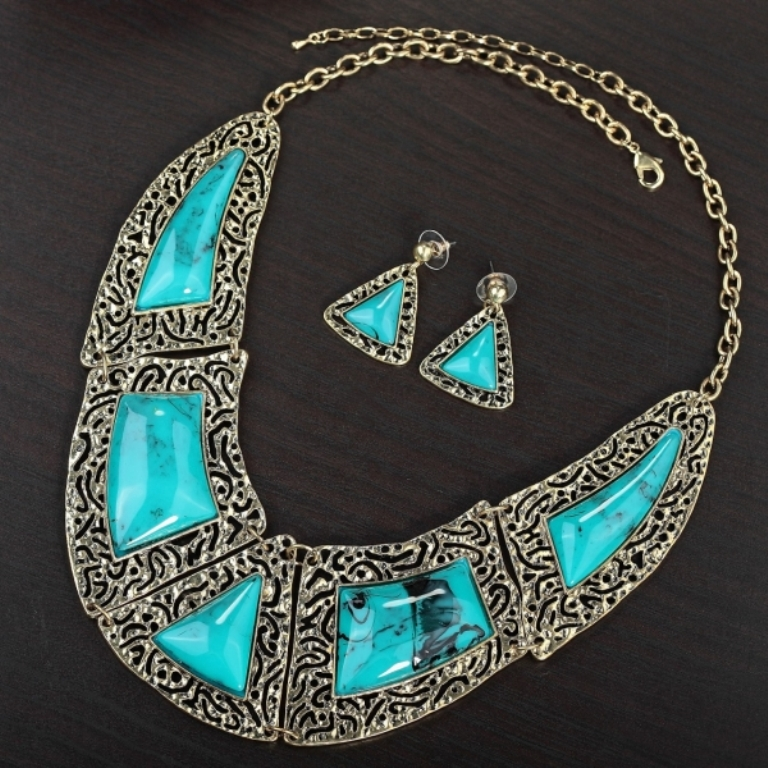"""hammered-jewelry-sets-vintage-jewellery-set-filigree-vintage-jewellery-set-turquoise-vintage-jewellery-set-hammered-vintage-jewellery-set-filigree-vintage-jewellery-set-okajewelry.com-905631 Turquoise jewelry """" The Stone of the Sky & Earth"""""""