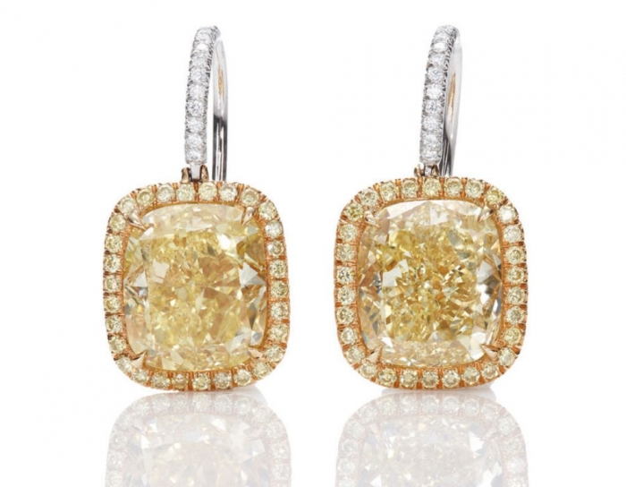 harry-winston-jessica-chastain-yellow_diamond_drop_earrings The Rarest Yellow Diamonds & Their Breathtaking Beauty