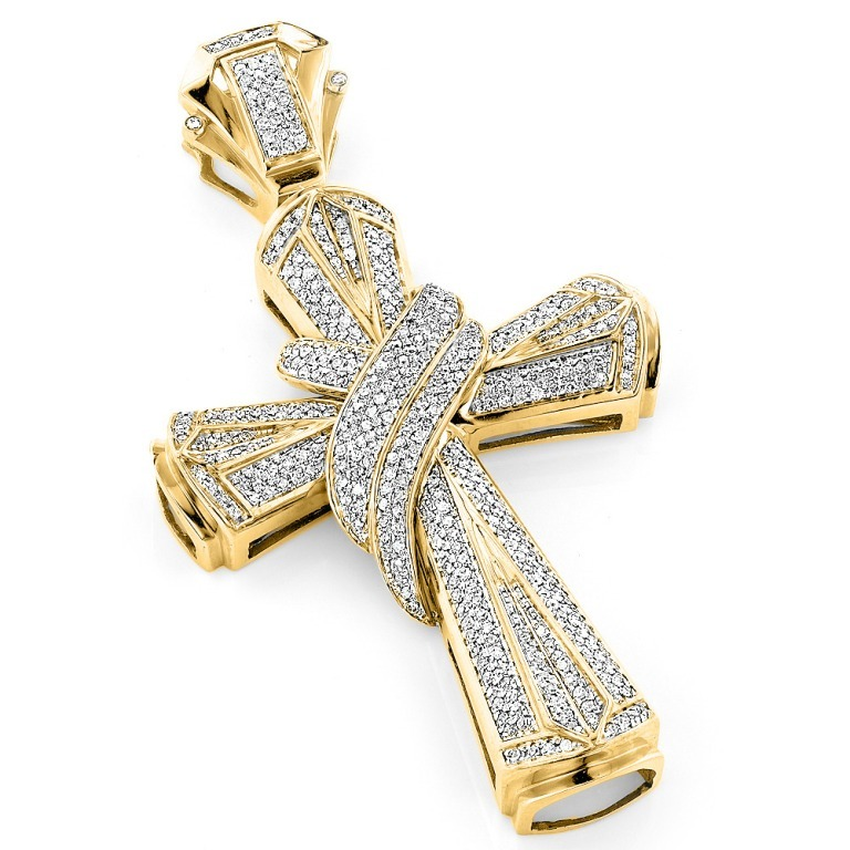 hip-hop-jewelry-large-10k-gold-mens-diamond-cross-necklace-pendant-133ct_1 Hip Hop Jewelry to Attract More Attention