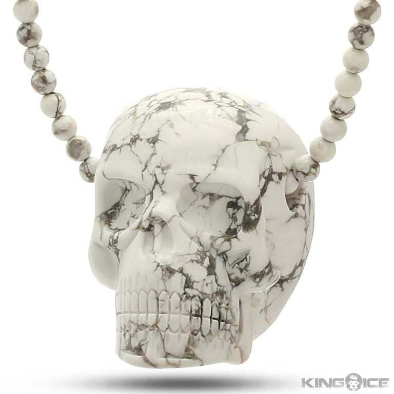 howlite-gemstone-skull-nkx08429_1500_2 Skull Jewelry for Both Men & Women