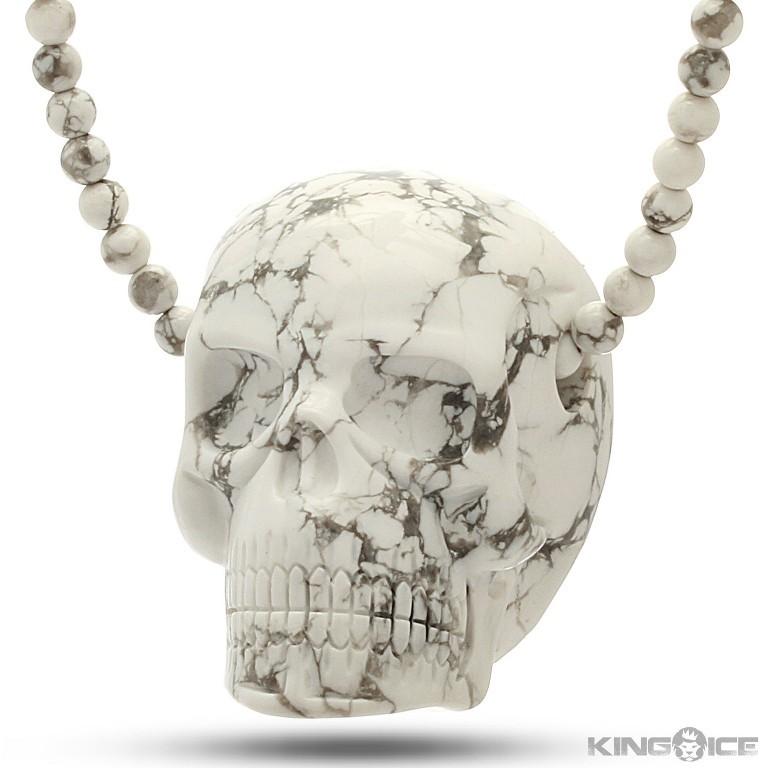 howlite-gemstone-skull-nkx08429_1500_2 Skull Jewelry for Both Men & Women